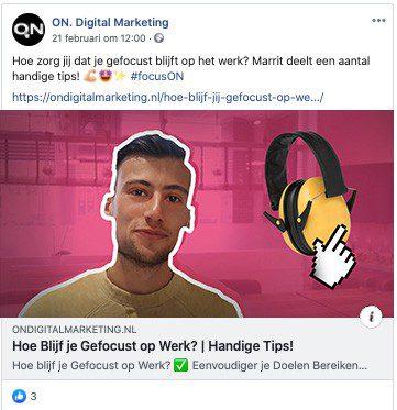 Social media tip tweede voorbeeld