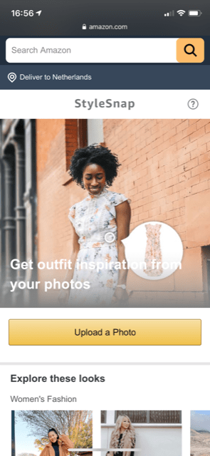 amazon stylesnap visual search